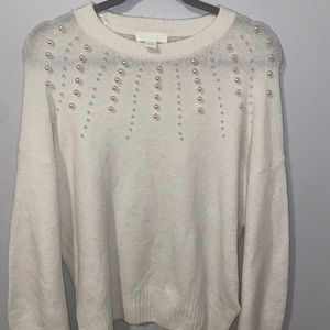 Tops - H&M pearl detail sweater